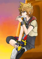 Roxas and Sora by AquaLeonhart