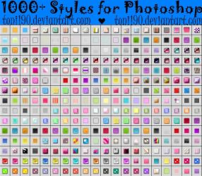 1000+ Styles for Photoshop by toni190