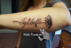 Izabelle Tattoo by NikkiFirestarter