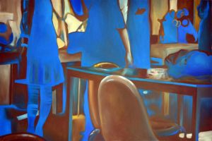 Blue shadows, 2011, 120-80cm, oil on canvas by oanaunciuleanu
