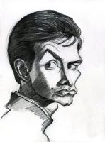 Anthony Perkins in Psycho by Caricature80