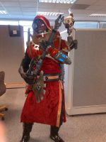 Tech Priest Finished Costume by Bag-of-hammers