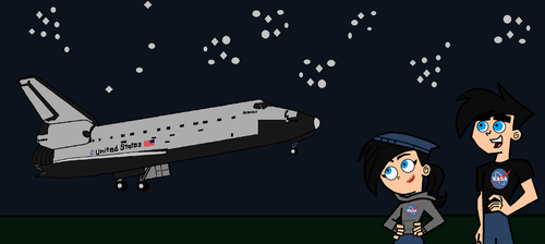 Danny and Dani Seeing Final Space Shuttle Landing. by LooneyAces