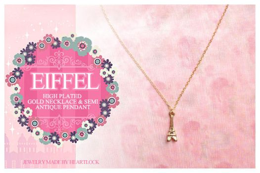 Eiffel Tower Princess Necklace by lovepapier