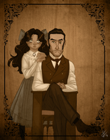 Throwback Thursday: Father, Daughter Portrait by LadyPep