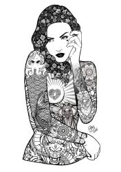 The Tattooed Lady V.2. by Shannahigans