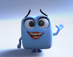 Zbrush Doodle: Day 1260 - Blue Cube by UnexpectedToy