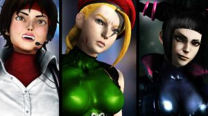 Sakura, Cammy and Juri - Power by POPALucasLima