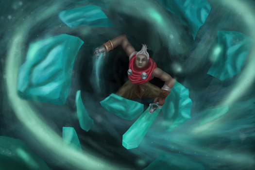 Ekko in a time warp (League of Legends) by ZNKT