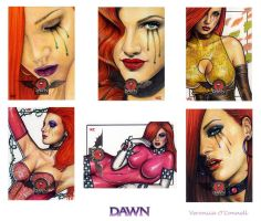 DAWN 20th Ann. Sketch Cards 5 by veripwolf
