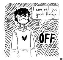 Zacharie sells you stuff by Korayuma