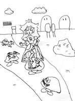 Princess Peach loses her shoes by DervDimension