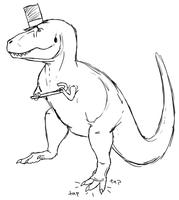 Tap-dancing T. rex by StygimolochSpinifer
