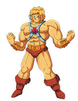 Toriyama's He-Man by Glee-chan