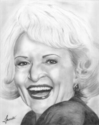 Betty White Portrait by supermacito
