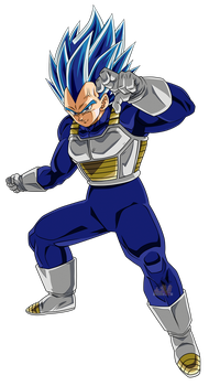 Vegeta Super Saiyajin Blue Evolution by arbiter720