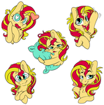 [Commission] Sunny Telegram Stickers by CutePencilCase