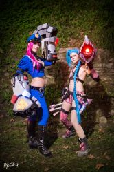 Officer Vi and Jinx by SacchyCosplay