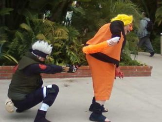 naruto gathering at the conji by Orbit16