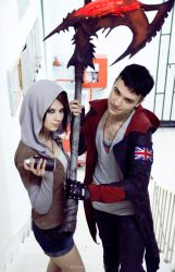 Kat and Dante - DmC - cosplay convent by LuckyStrikeCosplay