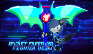 Secret Freedom Fighter  Dez the blue war wolf by BluethornWolf