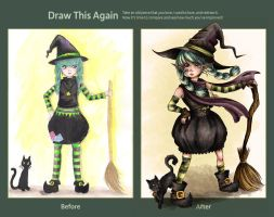 Draw this Again: Little Witch by MiiBT