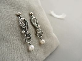 Melody silver earrings by UrsulaJewelry