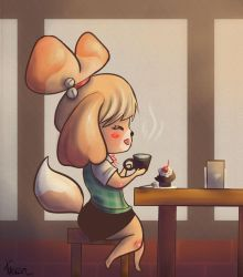 Cafe Break for Hard Working Isabelle by DirenKei