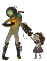 Eleanor and Little Sister Vector by pikmin789