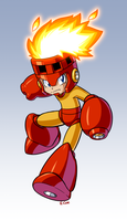 MegaMan Fire Storm form by rongs1234