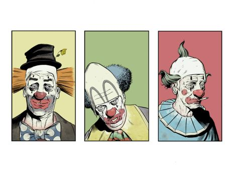 clowns colored by angryrooster