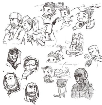 doodle sketchs by spidercandy