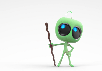 Zbrush Doodle Day 945 - Robot Kid Version 36 by UnexpectedToy