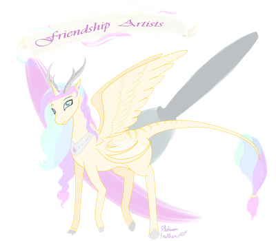 Frienship Artists group mascot by PlatinumFeather2002