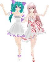 MMD Project Diva f White Amour White Innocent DL by GoThiCvaMPiR3