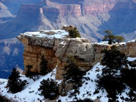 Grand Canyon Winter 6 - stock by Synaptica-stock