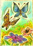 Oil Pastels: Beautiful Day by kxeron