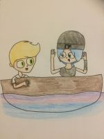 The Emoji Movie - Gene and Jailbreak on a Boat by FakeCgvaliant56