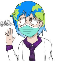 Earth-chan by ZouponFox