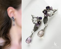 Lavender earrings by JuliaKotreJewelry