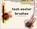 Tech vector Brushes by Yasny-resources