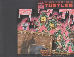 TMNT sketch cover3 by JLWarner