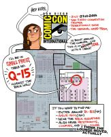 San Diego Comic-Con - BOOTH Q-15 in Small Press by shoomlah