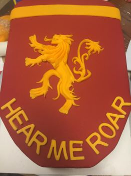 House Lannister Banner Cake 3-1-15 by Qess