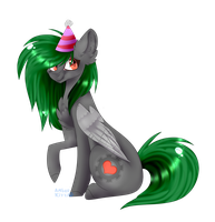 [G] Happy Birthday Cookie! by AmberKittyDraws