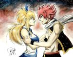 Lucy and Natsu by Maithagor