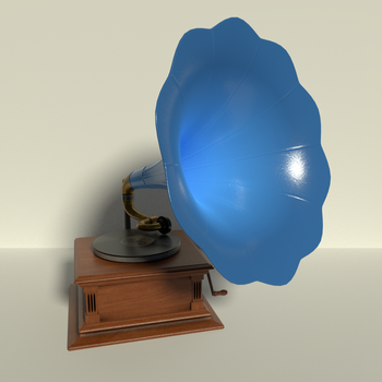 Phonograph in Blue by kbmxpxfan