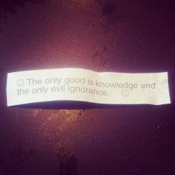 From a Fortune Cookie by TGang28
