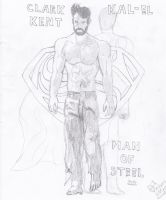 Man of Steel Fan art (Superman) Bearded Clark Kent by AplG7