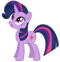 Twilight With Rarity's Manestyle -No Cutoffs- by 1414HolyFlanders